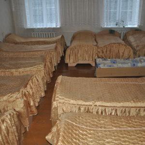 Schlafraum im Waisenhaus Radun