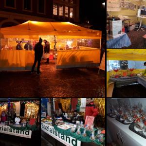 Die Hilfe Litauen Belarus e.V. präsentiert sich auf dem Weihnachtsmarkt in Bergisch Gladbach am Sozialstand.