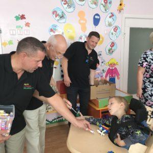 Besuch einer Schule für körperlich und geistig behinderte Kinder in Marijampole.