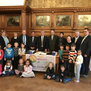 Empfang durch Bürgermeister Urbach im Rathaus